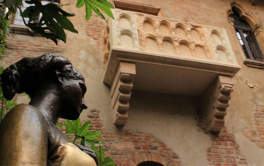 la casa di giulietta capuleti con il suggestivo balcone